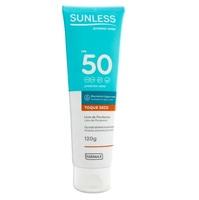 Protetor Solar Sunless Toque Seco FPS 50, loção com 120g