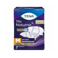 Fralda Geriátrica Tena Slip Noturna M, pacote com 7 unidades