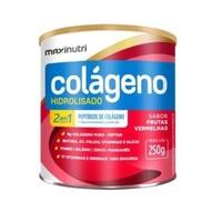 Colágeno Hidrolisado 2 em 1 Maxinutri frasco com 250g de pó para solução de uso oral, sabor frutas vermelhas