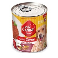 Ração para Cães Pró Canine Patê adulto, carne, lata, 280g