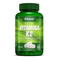 Vitamina K2 Herbamed 500mg, frasco com 60 cápsulas