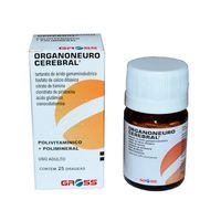Organoneuro Cerebral 100mg + 100mg + 25mg + 10mg + 5mcg, frasco com 25 drágeas