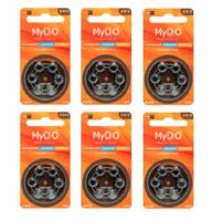 Kit para Aparelhos Auditivos Direito de Ouvir 6 cartelas de pilhas com 6 unidades cada, tamanho A312 + refil, sílica gel desumidificador, 1 unidade com 100g cada + 1 cartela com 8 filtros
