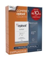 Protetor Solar Episol Color pele morena, FPS 70, 40g + R$10,00 leve Episol Homem, corporal, FPS 45, 60g