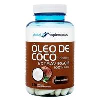 Óleo de Coco Extra Virgem Global Nutrition 120 Cápsulas