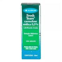 Fresh Tears 5mg/mL, caixa com 1 frasco gotejador com 10mL de solução de uso oftálmico