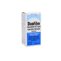 Duofilm 165mg/mL + 145,20mg/mL, caixa com 1 frasco com 15mL de solução de uso dermatológico + aplicador