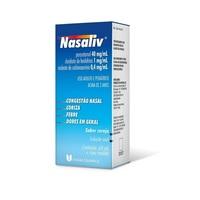 Nasaliv 40mg/mL + 1mg/mL + 0,4mg/mL, caixa com 1 frasco com 60mL de solução de uso oral + copo medidor