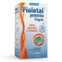 Pioletal 600mg, caixa com 1 frasco com 60mL de loção de uso dermatológico