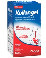 Kollangel Líquido 60mg/mL + 40mg/mL, frasco com 150mL de suspensão oral, sabor morango