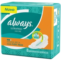 Absorvente Always Active Ultrafino - seca, com abas, 8 unidades