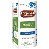 Complexo B EMS caixa com 20 comprimidos revestidos