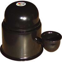 Bebedouro para Pet Vida Mansa Tradicional preto com capacidade de 0,7L
