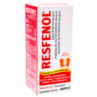 40mg/mL + 0,6mg/mL + 0,6mg/mL, caixa com 1 frasco com 100mL de solução de uso oral, sabor tangerina