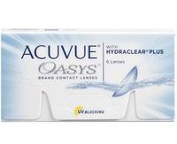 Lente de Contato Acuvue Oasys para Miopia grau -6.00, 3 pares