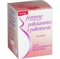 Femme caixa contendo 30 comprimidos revestidos