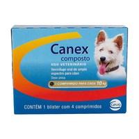 1 comprimido para cada 10Kg, caixa com 4 comprimidos