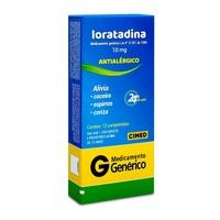 Loratadina Cimed 10mg, caixa com 12 comprimidos