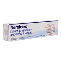 Nemicina 3,5mg/g, caixa com 1 bisnaga com 20g de pomada de uso dermatológico