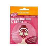 Máscara Facial Antioxidante Dermage Resveratrol e Berry Mask sachê com 10g