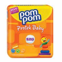 Fralda Pom Pom Protek Proteção de Mãe SXG, pacote com 16 unidades
