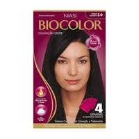 Tintura Creme Biocolor nº 2.0 preto azulado incrível