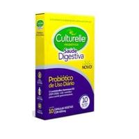 Culturelle Probiótico Saúde Digestiva 400mg, caixa com 10 cápsulas vegetais