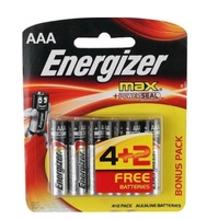 Pilha Alcalina Energizer Max AAA com 4 unidades + 2 unidades, grátis