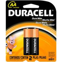 Pilha Alcalina Duracell AA básica com 2 unidades