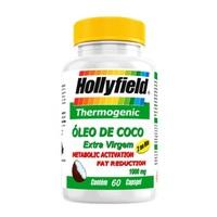Óleo de Coco Hollyfield extravirgem, 1000mg, frasco com 60 cápsulas