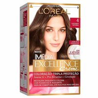 Tintura L'Oréal Imédia Excellence Creme - n° 04 castanho natural