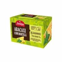 abacaxi com hortelã, sachê, 15 unidades