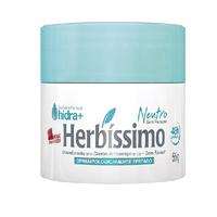 Desodorante Herbíssimo neutro, creme com 55g