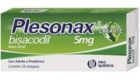 Plesonax 5mg, caixa com 20 comprimidos revestidos