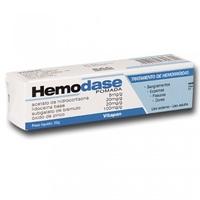 Hemodase 5mg/g + 20mg/g + 20mg/g + 100mg/g, caixa com 1 bisnaga com 25g de pomada de uso dermatológico