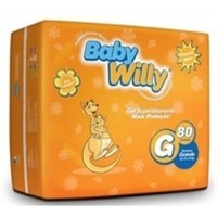 Fralda Baby Willy G, 80 unidades