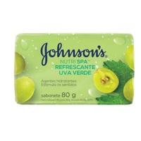 Sabonete Johnson's Nutri SPA uva verde, barra, 80g