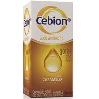 Cebion Gotas 200mg/mL, caixa com 1 frasco gotejador com 30mL de solução de uso oral