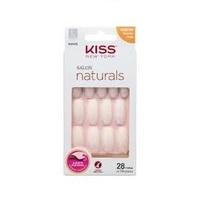 Unhas Postiças Kiss NY Salon Naturals bailarina, longo, 28 unidades