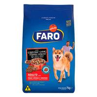 Ração para Cães Faro Adultos Raças Médias e Grandes carne, fígado e vegetais com 1Kg