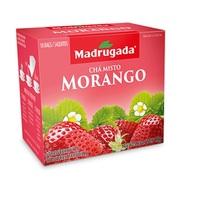 Chá Misto Madrugada morango, 6 caixas de 10 sachês cada