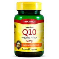 Coenzima Q10 Maxinutri 50mg, frasco com 60 cápsulas