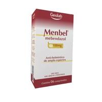 Menbel Comprimido 100mg, caixa com 6 comprimidos