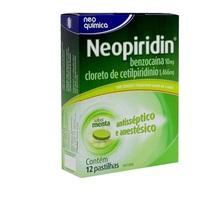 Neopiridin 1,466mg + 10mg, caixa com 12 pastilhas