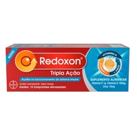 1g + 10mcg + 10mg, caixa com 10 comprimidos efervescentes, sabor laranja
