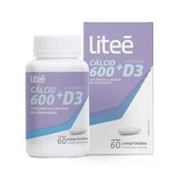 Cálcio 600 + D3 Liteé frasco com 60 comprimidos