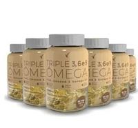 Triple Ômega 3, 6 e 9 Eleve 1400mg, 6 frascos com 60 cápsulas cada