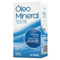 Óleo Mineral 100% - Cimed Frasco com 100mL de óleo uso oral e tópico