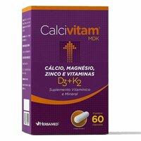 Calcivitam Herbamed 600mg, caixa com 60 cápsulas