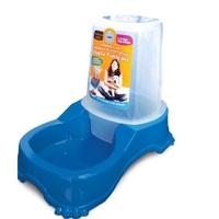 Alimentador Automático Duplo Pet Injet para Cães azul